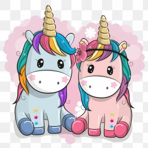 Cartoon Baby Unicorn - Cartoon PNG