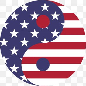 American Flag - Flag Of The United States Yin And Yang Symbol Clip Art PNG