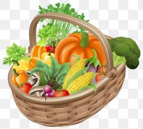 Basket With Vegetables Picture Clipart - Vegetable Basket Fruit Clip Art PNG