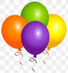 Large Balloons Clipart Image - Balloon Confetti Clip Art PNG
