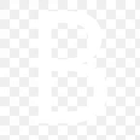 Letter B - Black And White Point Angle Pattern PNG
