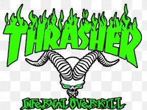 Magazine - Thrasher Logo Magazine Skateboarding Wallpaper PNG