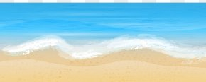 Sea And Sand Free Clip Art Image - Shore Wave Sea Sand Wallpaper PNG