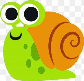 Sea Snail Cartoon - Green Clip Art Snails And Slugs Snail Cartoon PNG
