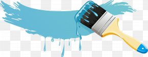 Sky Blue Paint Brush - Paintbrush PNG