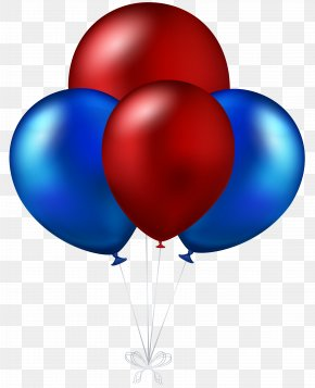 Red And Blue Balloons Transparent Clip Art Image - Water Balloon Blue Red Amazon.com PNG