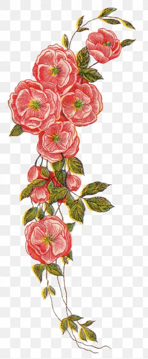Vintage File - Flower Clip Art PNG