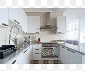 Kitchen - Countertop Kitchen Interior Design Services Furniture House PNG