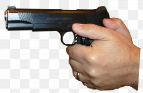 Gun In Hand Clipart - Firearm Pistol Handgun Clip Art PNG
