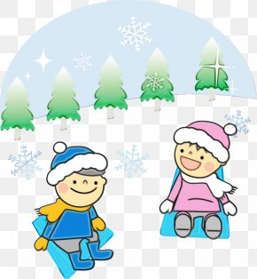 Playing In The Snow Fictional Character - Cartoon Clip Art Fictional Character Playing In The Snow PNG