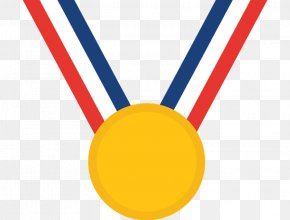 Summer Table Ribbon Olympics Medal - Gold Medal Clip Art PNG