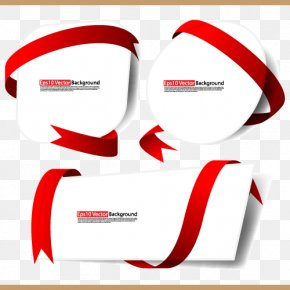 Red Ribbon - Paper Ribbon Gift Wrapping Textile PNG