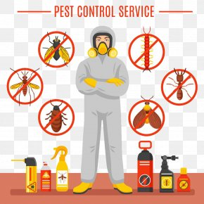 Cartoon Pest Control Man And Insecticide - Pest Control Stock Photography Royalty-free PNG