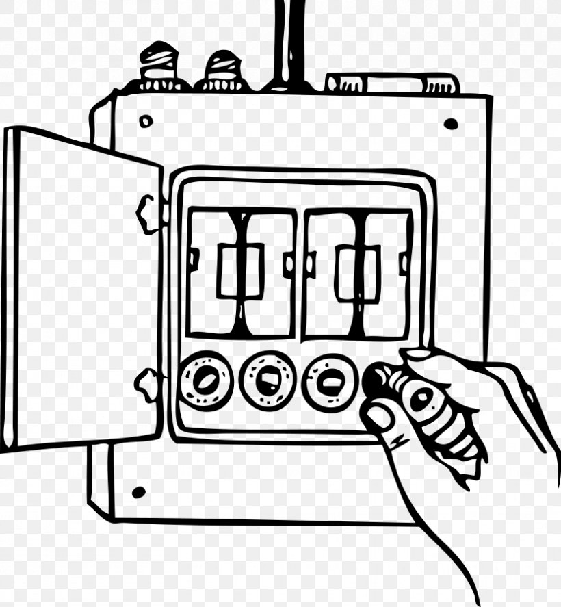 Fuse Wiring Diagram Clip Art, PNG, 832x900px, Fuse, Area, Black And White,  Circuit Breaker, Distribution BoardFAVPNG.com