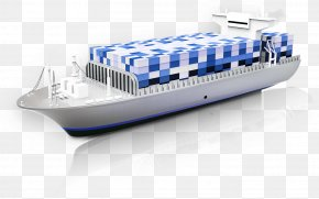 Ocean Shipping - Water Transportation Container Ship Watercraft PNG