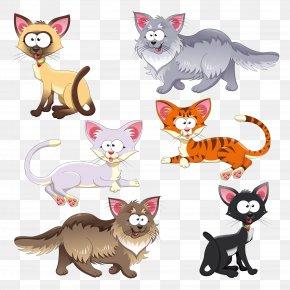 Cartoon Cat - Cat Kitten Cartoon Clip Art PNG
