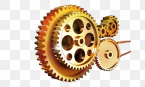 Golden,Gear Chain,company Culture - Spiral Bevel Gear Template Manufacturing PNG