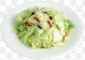A Lightly Fried Cabbage - Chinese Cuisine Waldorf Salad Cabbage Vegetable Food PNG