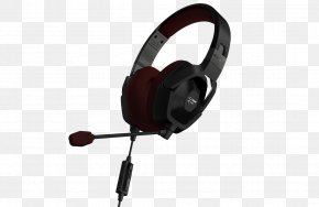 Black Matte Monster Cable Electronic Sports GamerHeadphones - 137048-00 Monster Fatal1ty FxM 100 High Performance Gaming Over-Ear Headphones PNG