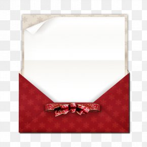 Christmas Card - Paper Christmas Ribbon Envelope PNG