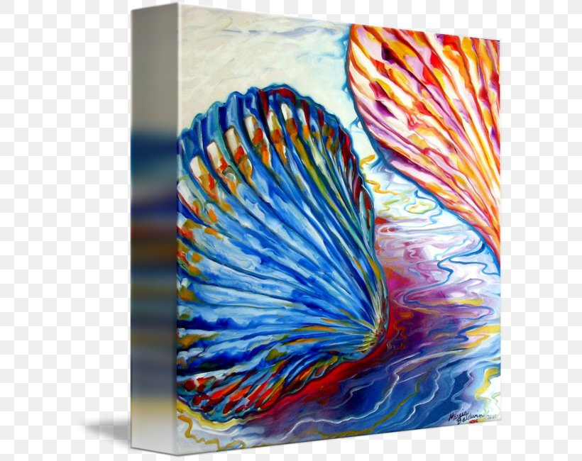 Seashell Watercolor Painting Abstract Art Png 606x650px