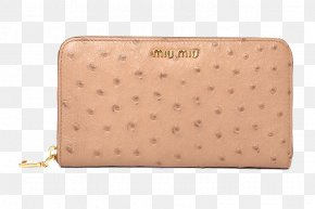 Physical Product Lines Beige Ostrich Large Zip Wallet - Handbag Zipper Common Ostrich PNG