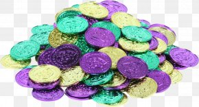 Mardi Gras Beads - Mardi Gras In New Orleans Bead Doubloon Clip Art PNG