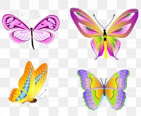 Transparent Butterflies Set Clipart - Butterfly Clip Art PNG