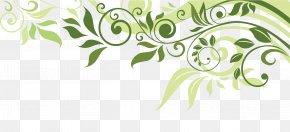 Leaf Border - Flower Banner Spring Illustration PNG