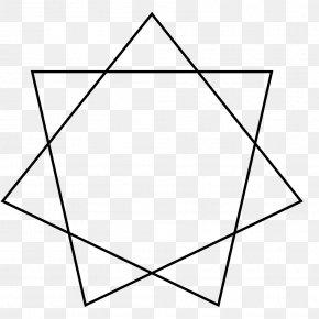 Heptagram Star Polygon Heptagon Geometry PNG