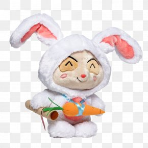 Cartoon Bunny Hand-painted Rabbit Take Radish - League Of Legends Defense Of The Ancients Riot Games Plush Toy PNG