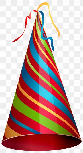 Colorful Party Hat Transparent Clip Art Image - Party Hat Birthday Clip Art PNG