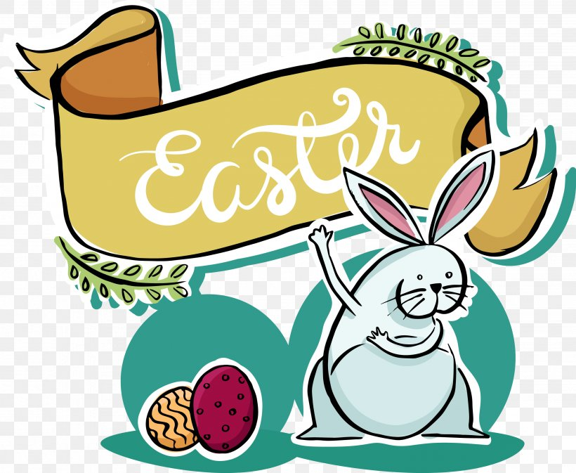 Easter Bunny Euclidean Vector, PNG, 2934x2409px, Easter Bunny, Area, Artwork, Cartoon, Drawing Download Free