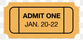 Admit One Ticket - Logo Font Brand Line Product PNG