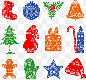 Christmas Pattern Material - Christmas Gift Illustration PNG