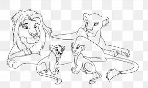 Lion - Lion Line Art Zira Drawing Sketch PNG