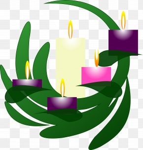 Church Candles - Advent Wreath Advent Candle Clip Art PNG