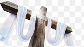 Holy Cross White Ribbons - Calvary Sayings Of Jesus On The Cross Crucifixion Of Jesus Wallpaper PNG