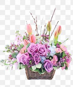 Flowerpot Rose - Floral Design PNG