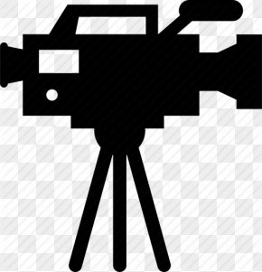 Video Camera Tripod Transparent Background - Video Camera Film Icon PNG