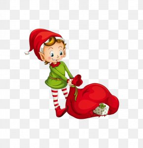 There Are Gifts Children - The Elf On The Shelf Santa Claus Candy Cane Christmas Elf Clip Art PNG