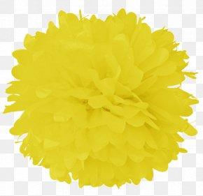 Flower - Tissue Paper Pom-pom Turquoise Color PNG