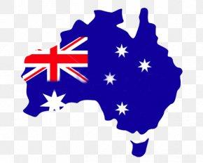 Australia Map Fusion Flag - Flag Of Australia Australiau2013Papua New Guinea Relations Clip Art PNG