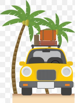 Map Of The Island By Car - Vacation Travel Summer PNG