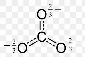 Salt - Bicarbonate Polyatomic Ion Lewis Structure PNG