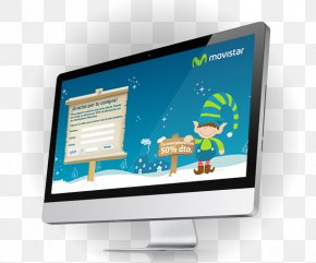Movistar - LED-backlit LCD Computer Monitors LCD Television Output Device Liquid-crystal Display PNG