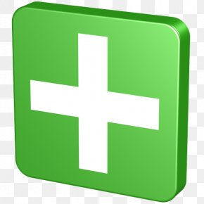 Plus - Symbol Green Font PNG