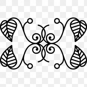 Symmetry Vector - Leaf Floral Design Flower Pattern PNG