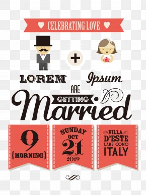 British Bride And Groom's Wedding Invitations PNG