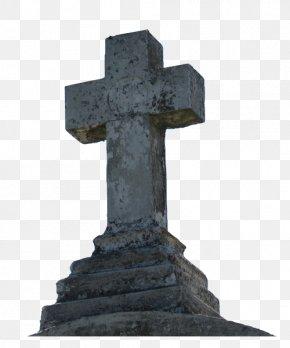Headstone - Headstone Cross Monument Grave Memorial PNG